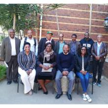 ACEIDHA Project Accountant Mrs Acbertha Mutina (2nd frm left) with other Accountants at Institute for Capacity Development in Pretoria S.A