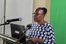 UNZA Deputy Vice Chancellor Prof. Enala Mwase – Tembo giving her welcoming remarks during the ISAB meeting – December 2019